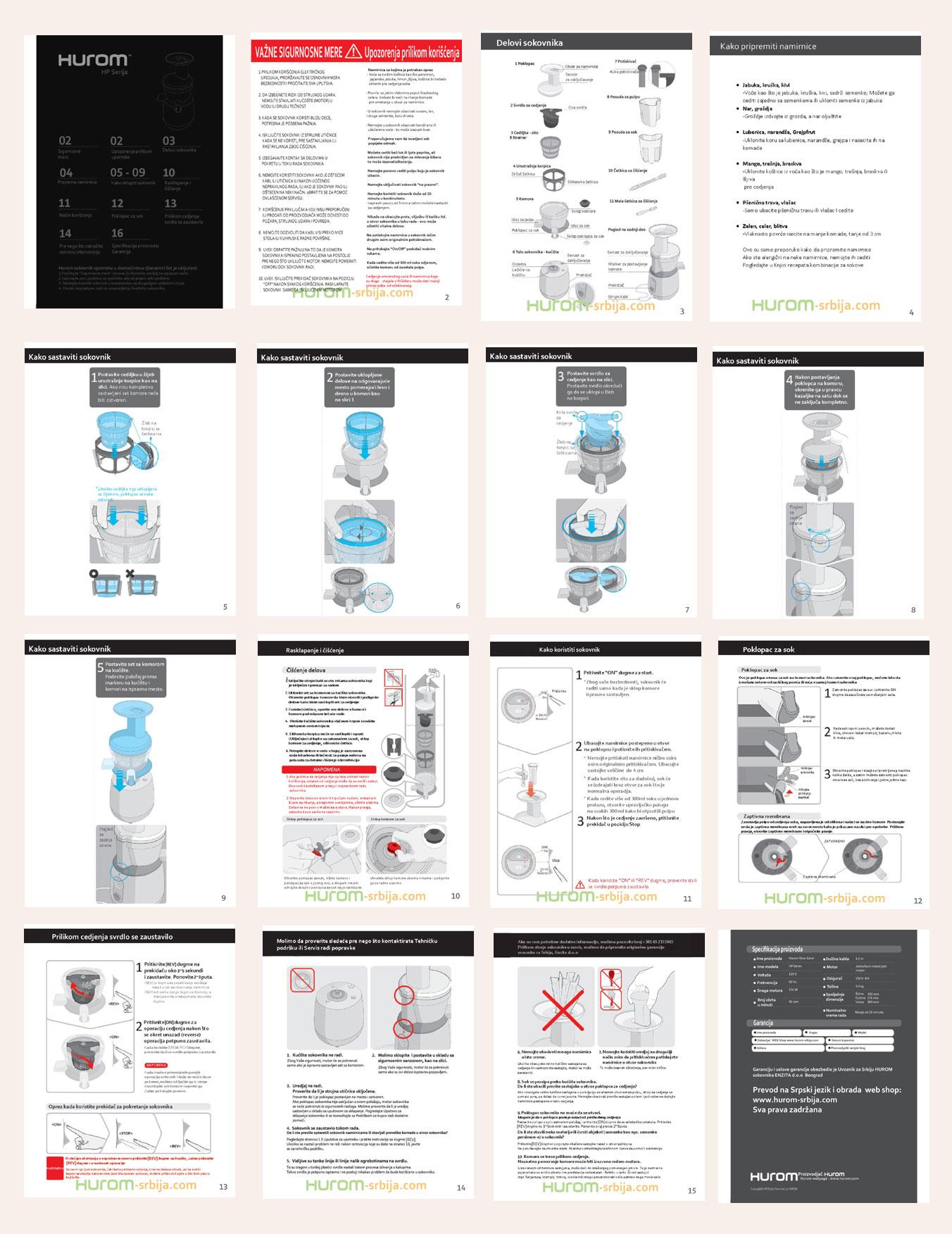 Uputsvo za upotrebu u .pdf formatu šaljemo Vam nakon kupovine